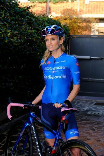 Justine Mattera bici